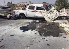 نجاة عائلة في حادث مروري شنيع بين سيارتين بالخفجي