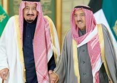 خادم الحرمين يتلقى برقيات تهان من أمير الكويت وولي العهد ورئيس الوزراء