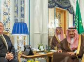 خادم الحرمين يستقبل وزير خارجية الولايات المتحدة الأمريكية