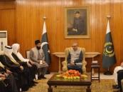 رئيس جمهورية باكستان يستقبل رئيس مجلس الشورى