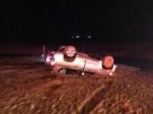 حادث مروري مروع على طريق الخفجي الدمام بعد اصطدام سيارتين وجهاً لوجه