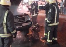 """إخماد حريق إندلع في """"سيارة """" بالخفجي"""