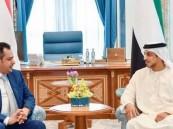 منصور بن زايد يلتقي رئيس الوزراء اليمني