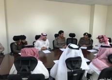 اللجنة الفرعية للدفاع المدني بالخفجي تناقش خطط الإسناد ومواقع الإيواء