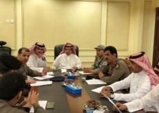 الهزاع يجتمع مع لجنة مواجهة أخطار الأمطار والسيول بالخفجي لمناقشة خطة العام