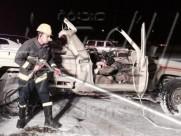 وفاة شخصين من أفراد حرس الحدود بالخفجي في حادث سير شنيع