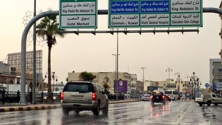 المطر ينعش اجواء الخفجي , عدسة – عامر المالكي