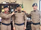 مدير الدفاع المدني يقلد البارقي رتبته الجديدة