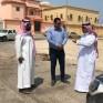 رئيس بلدية الخفجي يتفقد المشاريع التي تنفذها البلدية