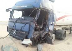 بالصور: بسبب نوم السائق.. حادث وجهاُ لوجه على طريق الخفجي القديم