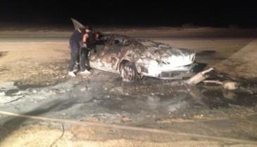 بالصور: وفاة شخص في حادث بالقرب من هجرة السفانية