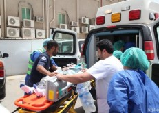 مشاركة أمنية وصحية واسعافية في تنفيذ فرضية مستشفى الخفجي الأهلي