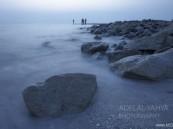 عدسة أبعاد الخفجي – صورة إحترافية لصخور الشاطيء , تصوير – عادل اليحياء