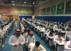 بحضور أكثر من ٥٠٠ طالب مركز الخفجي يختتم إختبارات القياس والتقويم الورقي