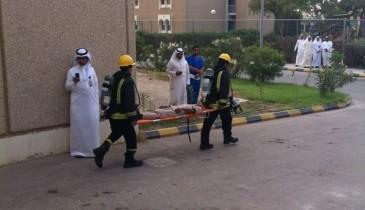 الدفاع المدني ينفذ حريق فرضي بمستشفى الخفجي العام
