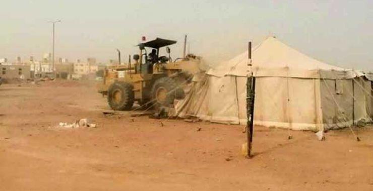 لجنة تعديات الخفجي تبدأ الأحد القادم في إزالة المخيمات التي تحتوي أشجار