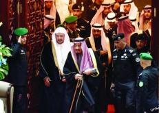 خادم الحرمين يفتتح أعمال السنة الثانية من الدورة السابعة لمجلس الشورى