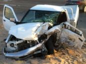 إصابات متفرقة في حادث على طريق الخفجي القديم