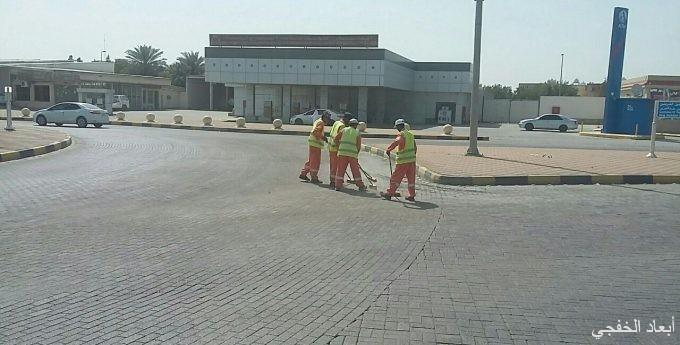 بلدية الخفجي تقوم بأعمال النظافة والصيانة و تكثف الرقابة استعدادا لاستقبال رمضان المبارك