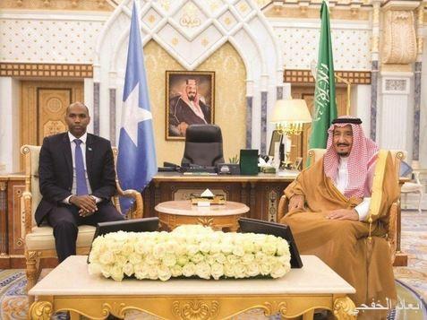 خادم الحرمين بحث مع رئيس الوزراء الصومالي الأوضاع في المنطقة والقرن الأفريقي