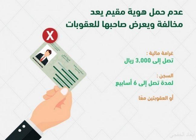 الجوازات تحذر المقيم من التنقل بدون هوية