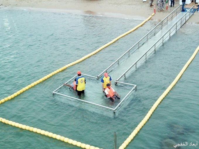 إنشاء موقع مخصص لسباحة ذوي الإحتياجات الخاصة بكورنيش الخفجي