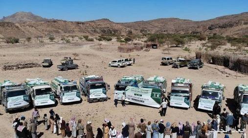 """توزيع 1067 كرتون تمر في مديرية بني ضبيان """"الصفيراء"""" بمحافظة صنعاء"""