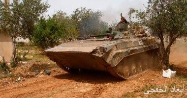 الجيش السورى يقصف ما تبقى من تحصينات الإرهابيين جنوب دمشق