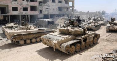 """""""سانا"""": الجيش السورى يتقدم باتجاه بؤر الإرهابيين فى حى الحجر الأسود"""
