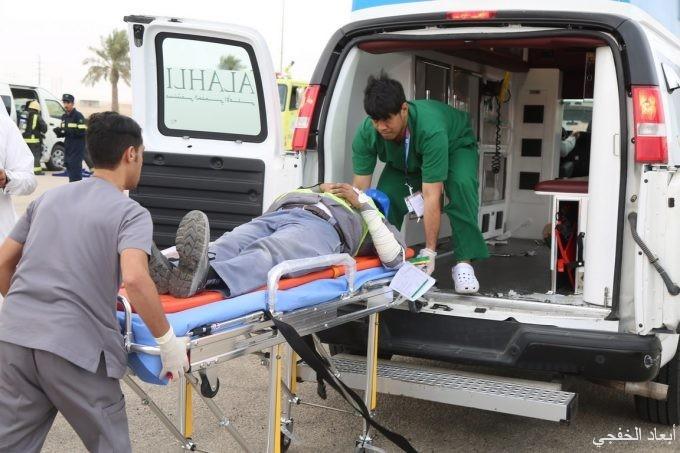 سبعة جهات تشارك في فرضية حادث بتنظيم مستشفى الخفجي الأهلي