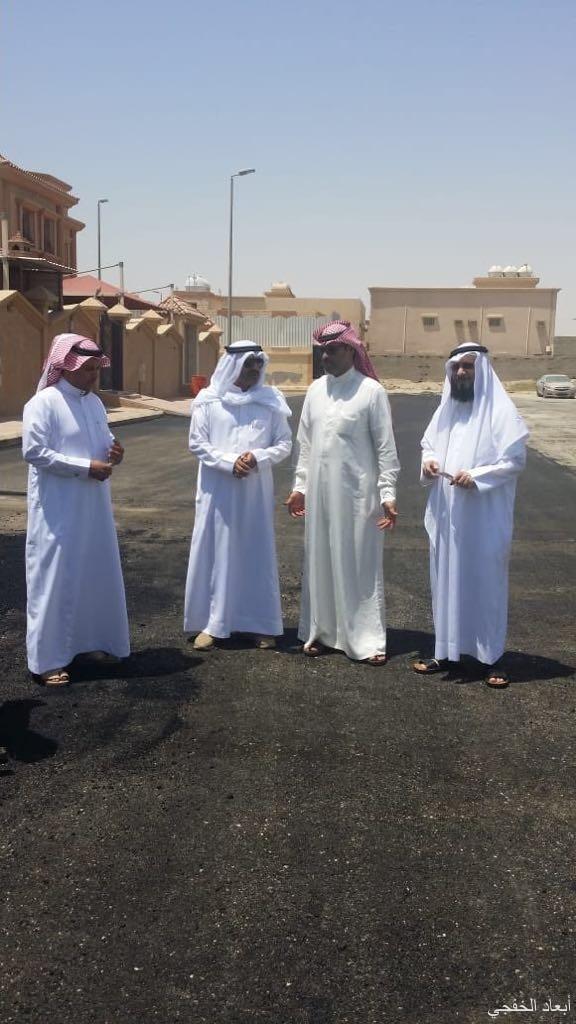 «لجنة المشاريع ببلدي الخفجي» تقوم بجولة تفقدية لمشروع صيانة الشوارع
