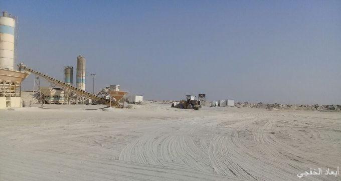 بلدية الخفجي تغلق مصنع خرسانة غير مرخص في السفانية