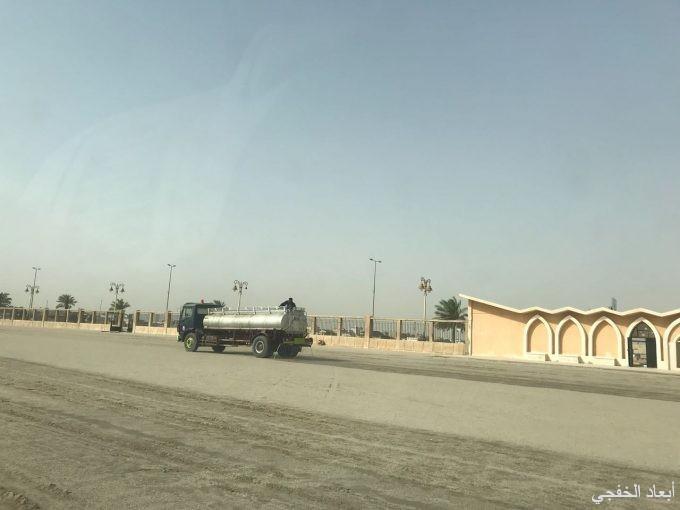 إدارة مساجد الخفجي تُكمل تجهيزات المصلى لعيد الفطر المبارك