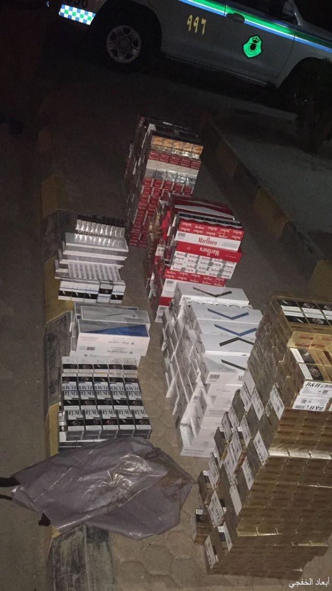 أمن الطرق بالخفجي يضبط 240 كرز من «سجائر الدخان»