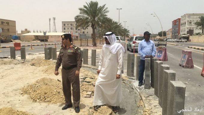 عودة أعمال إنشاء الدوارات في 3 شوارع بالخفجي