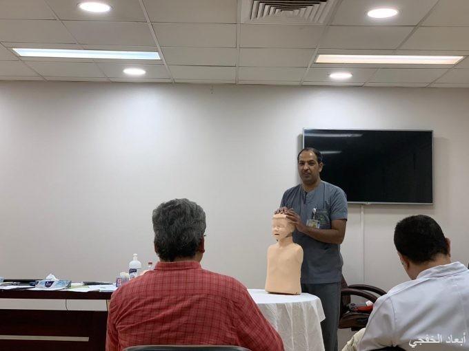 مستشفى الخفجي العام ينفذ دورة الإنعاش القلبي لمنسوبي مستشفى قرية العليا