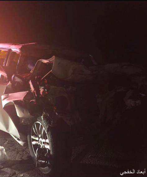وفاة ثلاثة أشخاص وإصابة سبعة في حادثين متفرقين بالخفجي